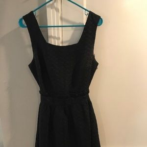 Black Cocktail Dress with Open Back
